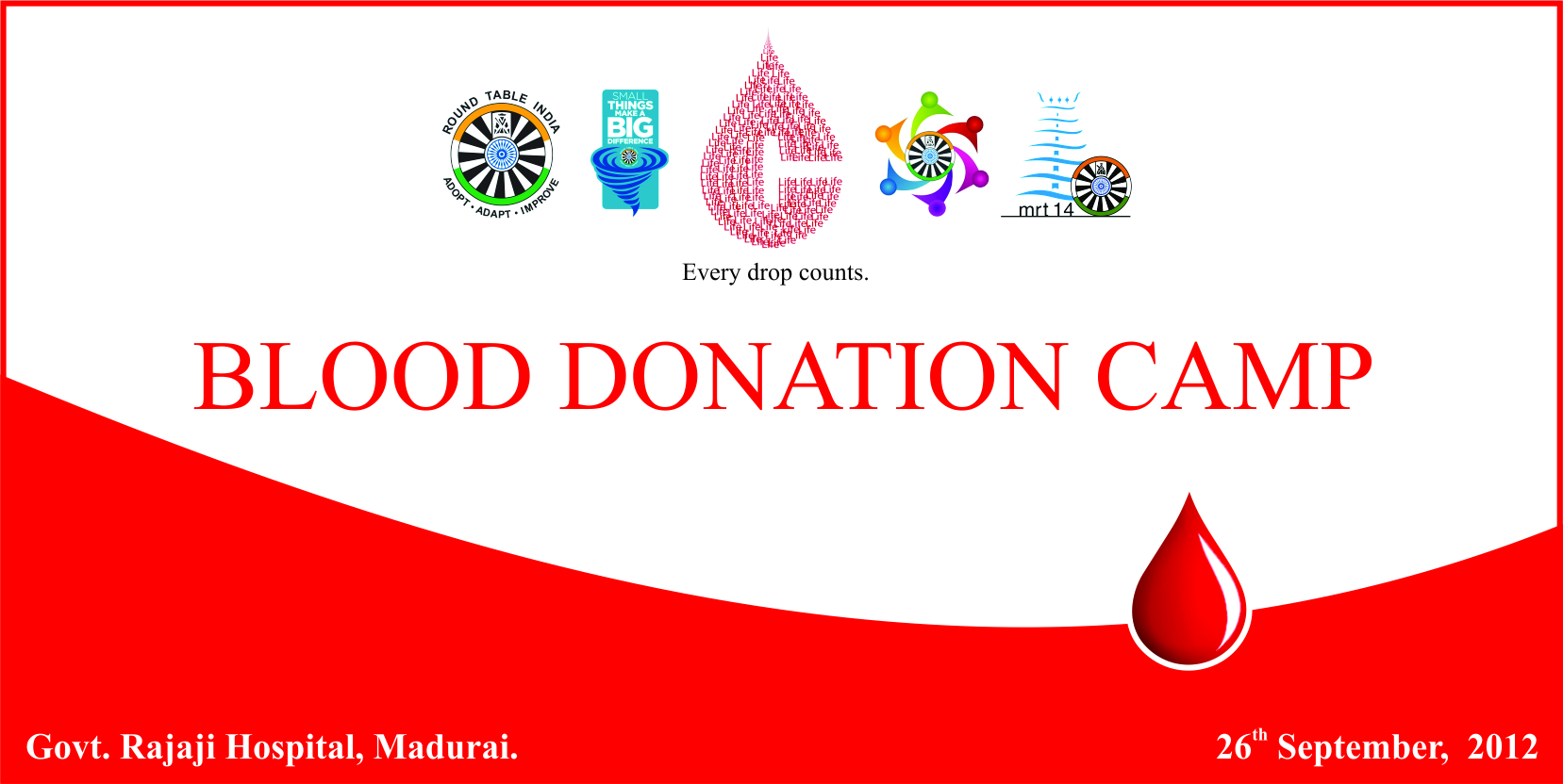 Madurai Round Table 14 Blood Donation Camp Round Table India Blogs