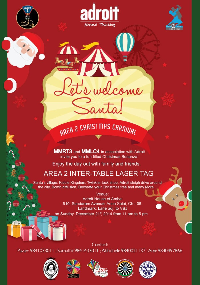 Madras Rt 3 Christmas Carnival Round Table India Blogs