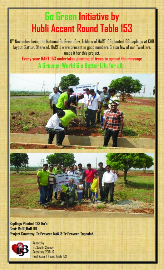 Go Green Initiative by Hubli Accent Round Table 153